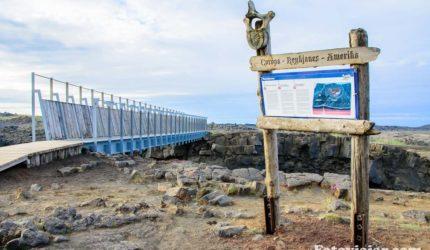 ponte entre dois continentes islandia