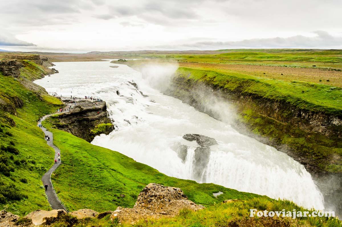 Cascata Gulfoss Islandia
