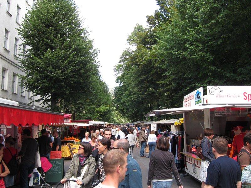Feira nas ruas de Berlim