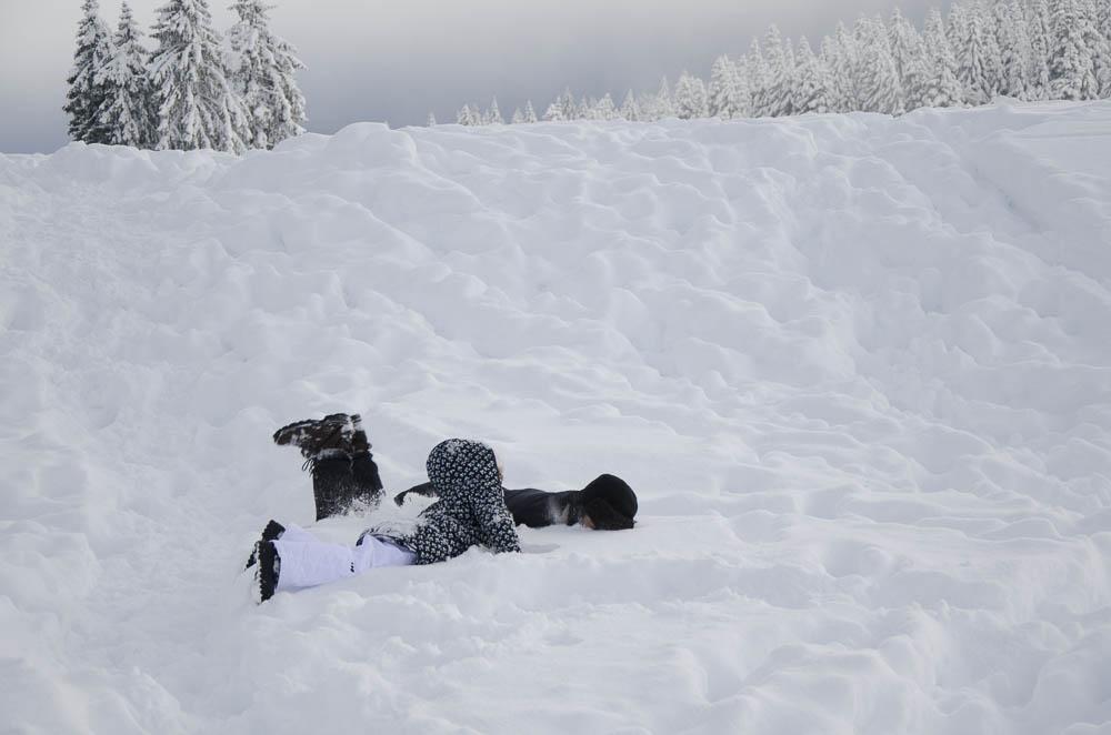 viajar com crianças neve