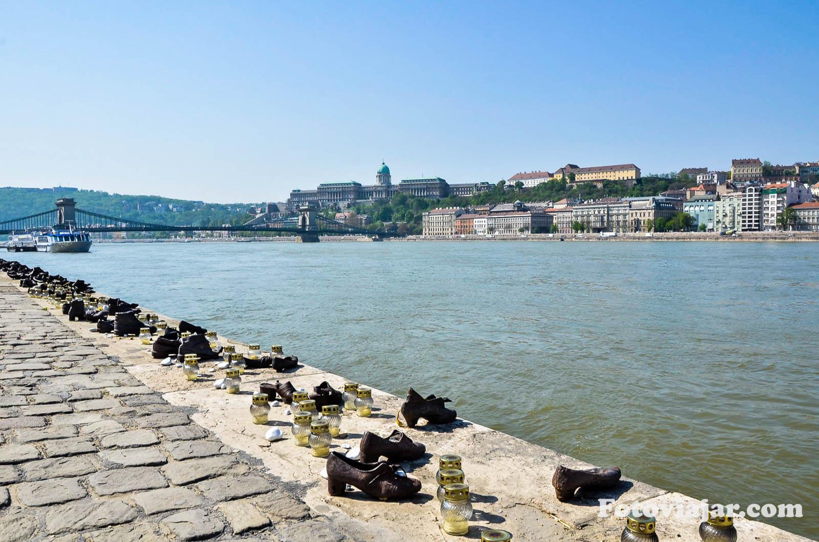 budapeste memorial sapatos margem danubio judeus