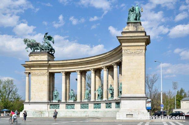 visitar budapeste praca herois estatuas