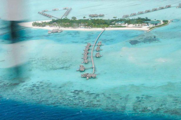 ilhas maldivas desde o ceu