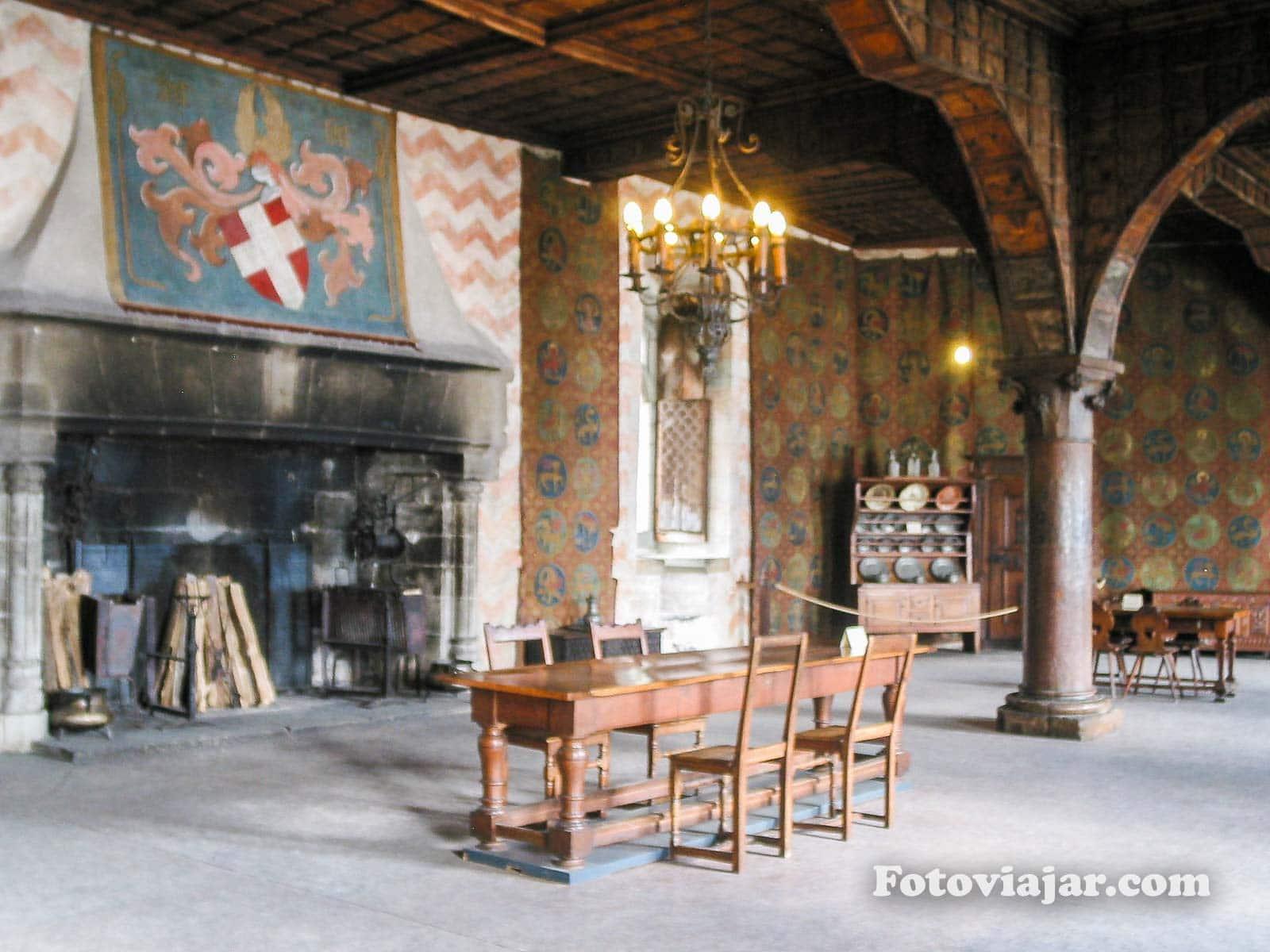 chateau chillon interior