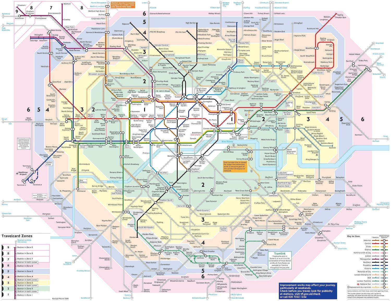 mapa zona transportes londres