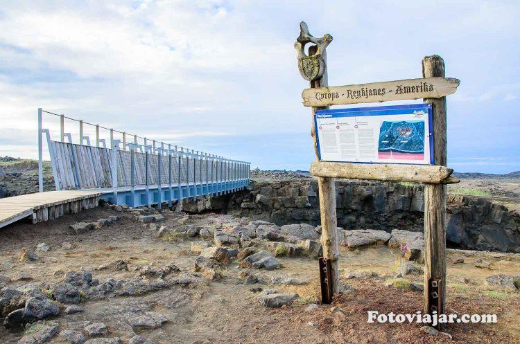 ponte dois continentes islandia